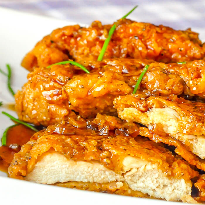 double crunch chicken breasts recipe