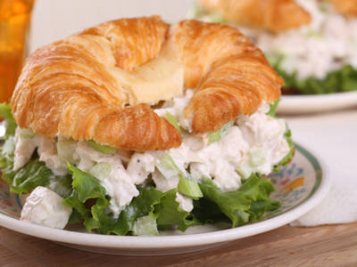 easy chicken salad croisant